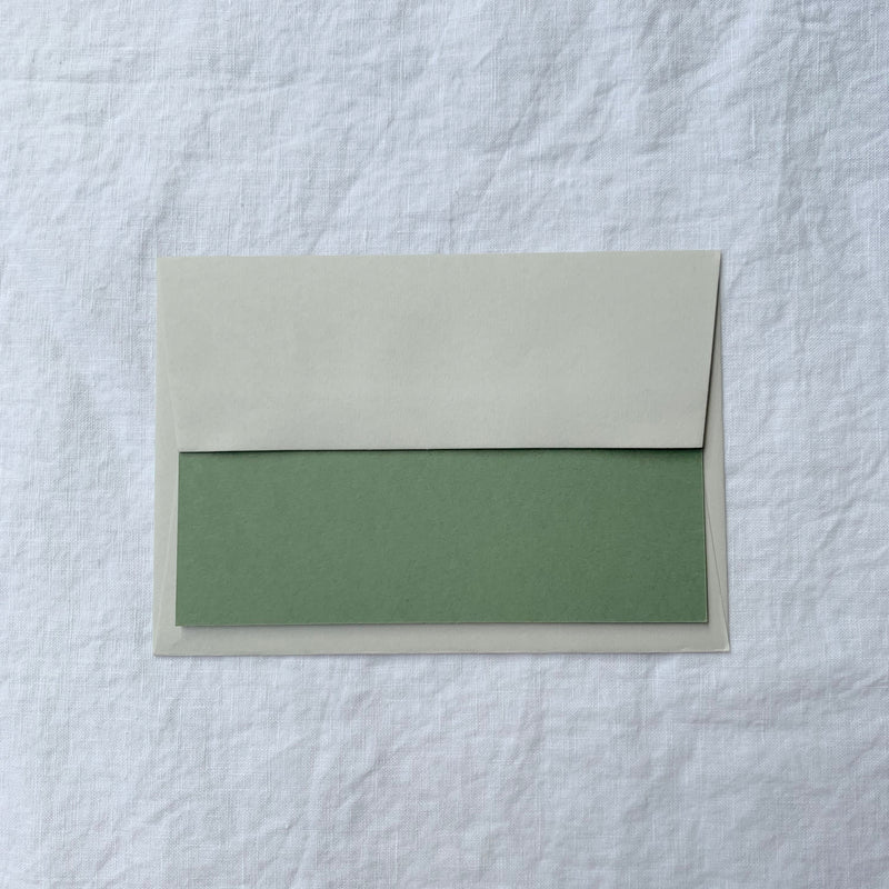 Personalised Note Cards in Olive