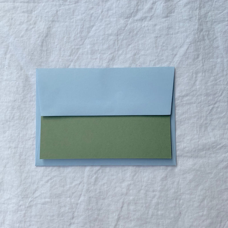 Plain Note Cards in Olive