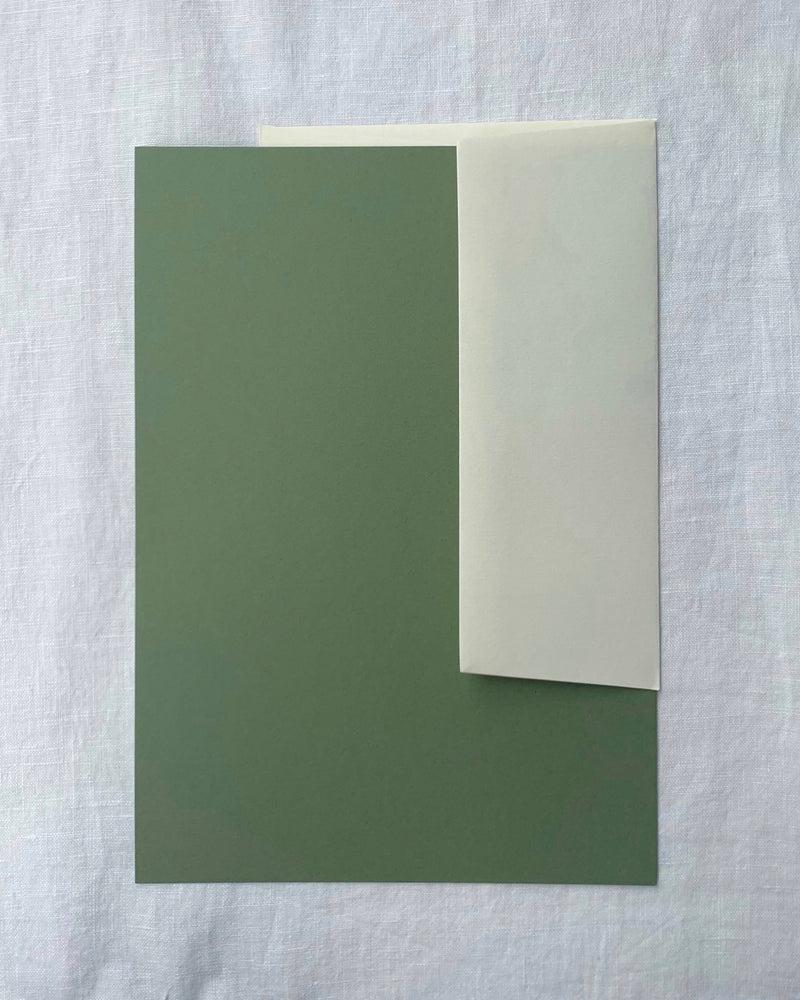 Personalised Writing Paper in Olive