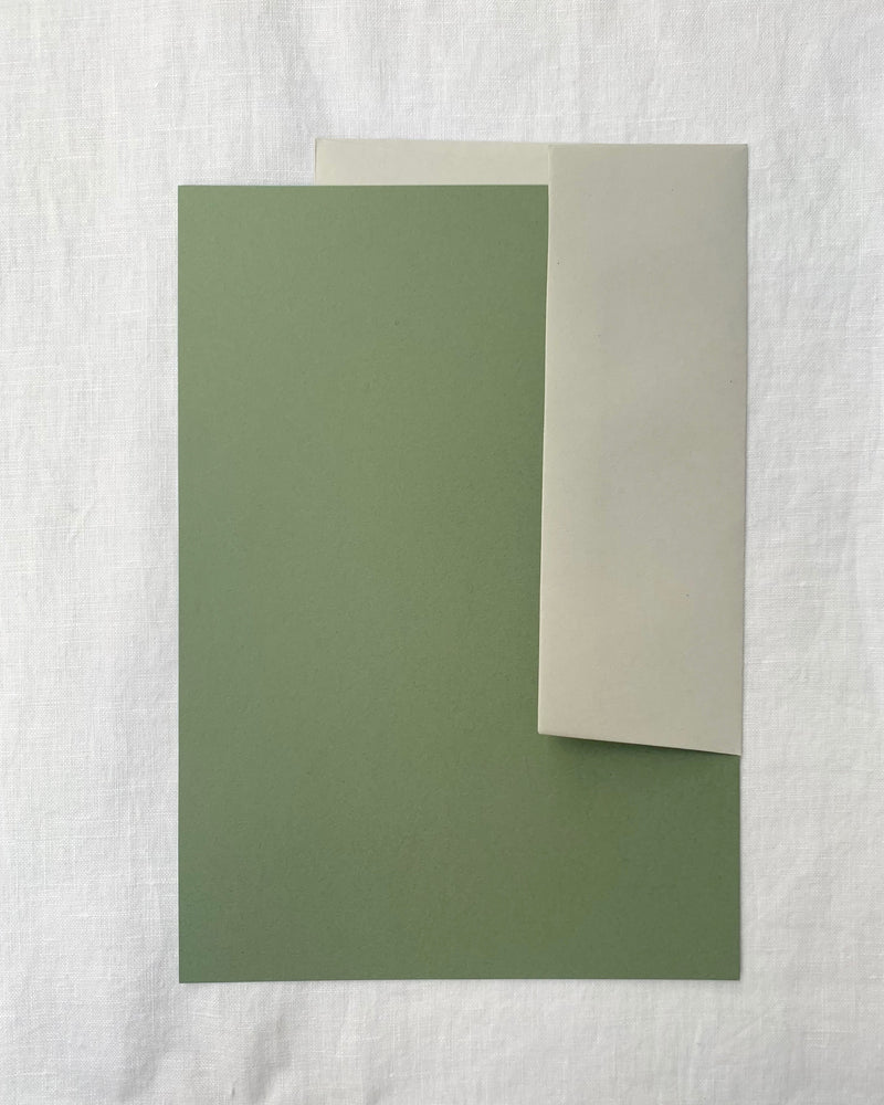 Plain Writing Paper in Olive