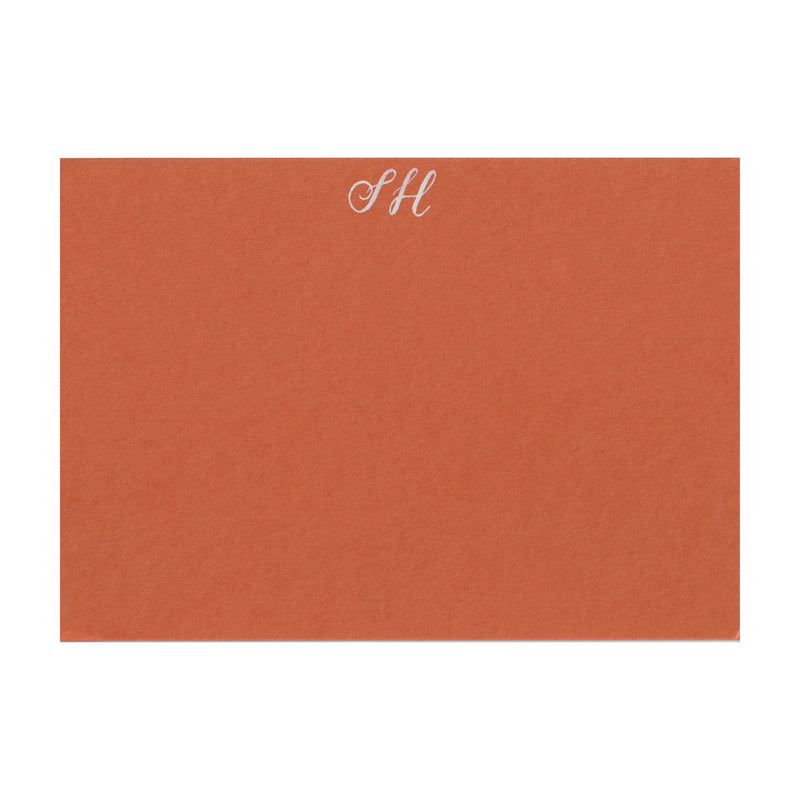Personalised Note Cards in Russet