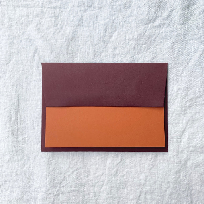 Plain Note Cards in Russet