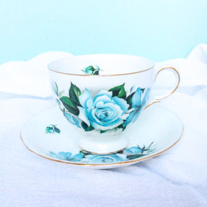 Vintage Teacup - Blue Rose