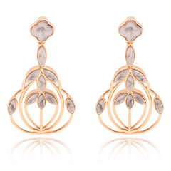 Floral Escape Magnesite Cocktail Earrings - Rose Gold