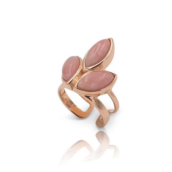 Floral Escape Pink Opal Pointer Ring - SOLD OUT