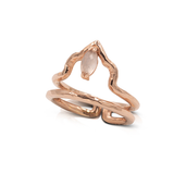 India Affair Rose Quartz Midi Ring Rose Gold