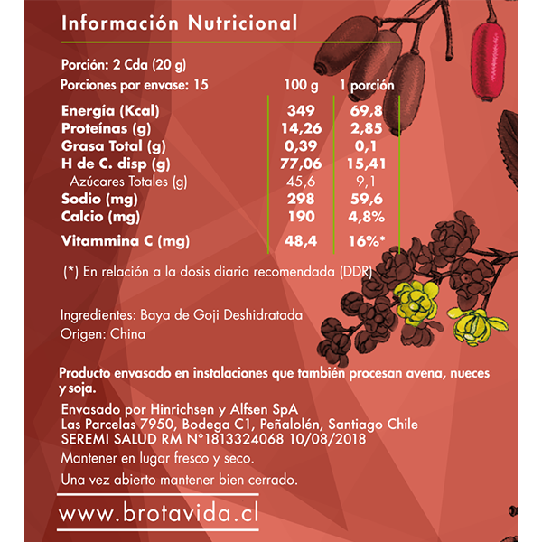 Goji Berries - Brota Vida