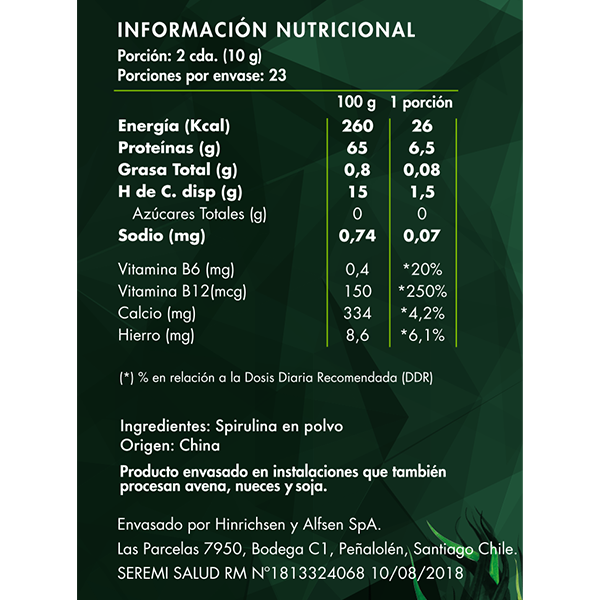 Spirulina Green Power - Brota Vida