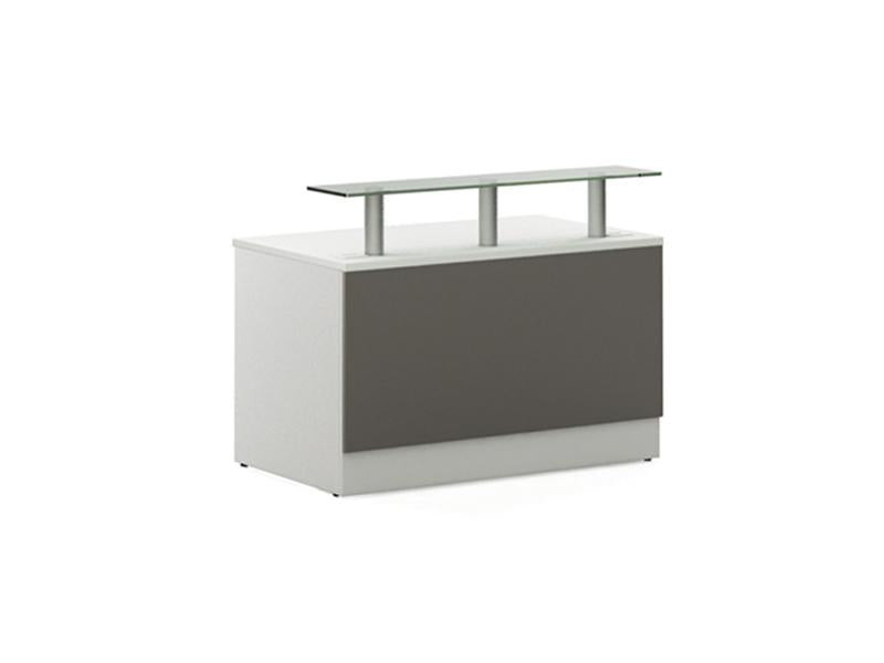Allure Glass Shelf Desk Unit