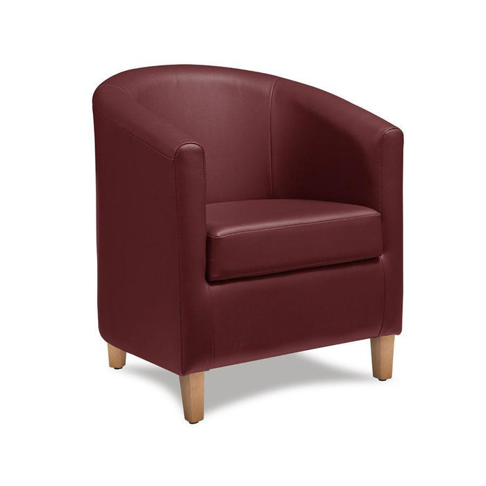 Bay Tub Chair - Wine Red