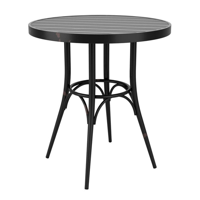 Café 4 Leg Table - Vintage Black - 75cm Dia