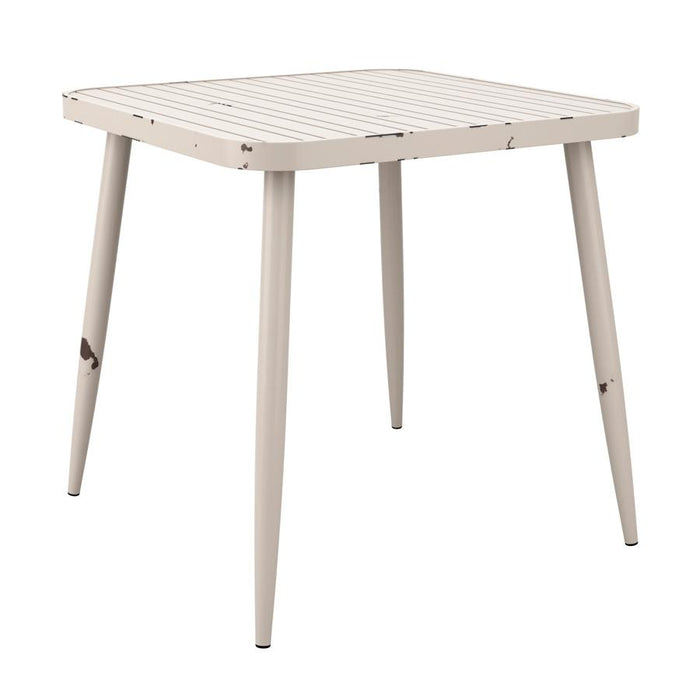 Café 4 Leg Table - Vintage White - 75x75cm