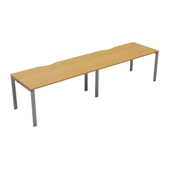 LOCO 2 person single bench desk 2400mm x 800mm
