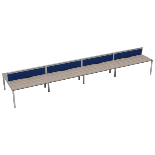 LOCO 10 person bench desk 7000mm x 1600mm - Next Day Delivery