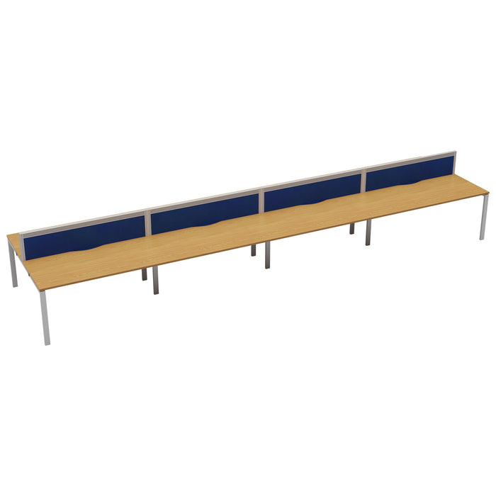 LOCO 8 person bench desk 6400mm x 1600mm