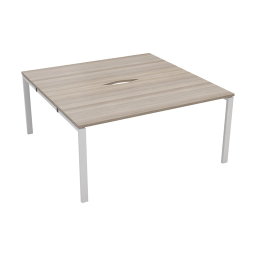 LOCO 2 person bench desk 1600mm x 1600mm - Next Day Delivery