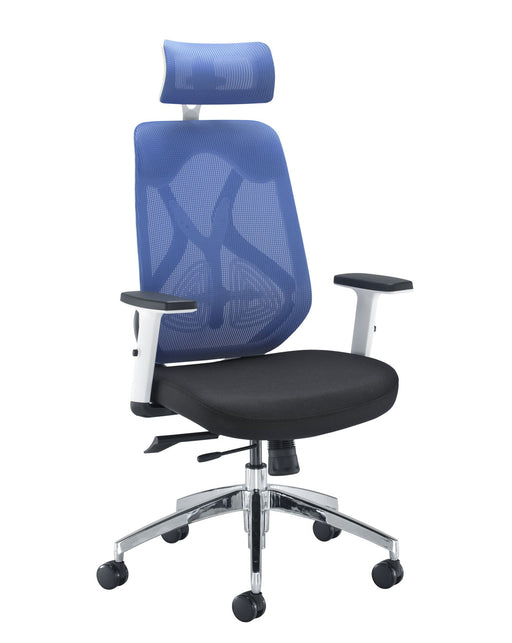 Maldini Mesh Back Office Chair Blue
