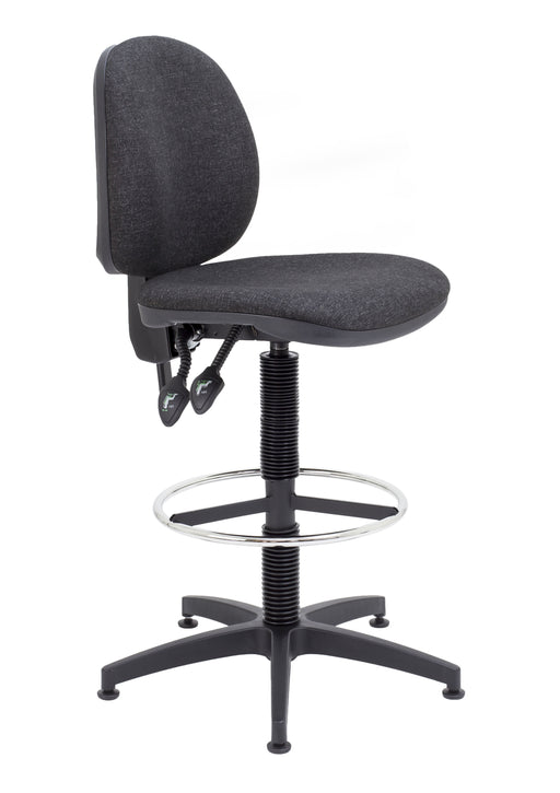 Concept Mid Back Draughtsman Chair Charcoal