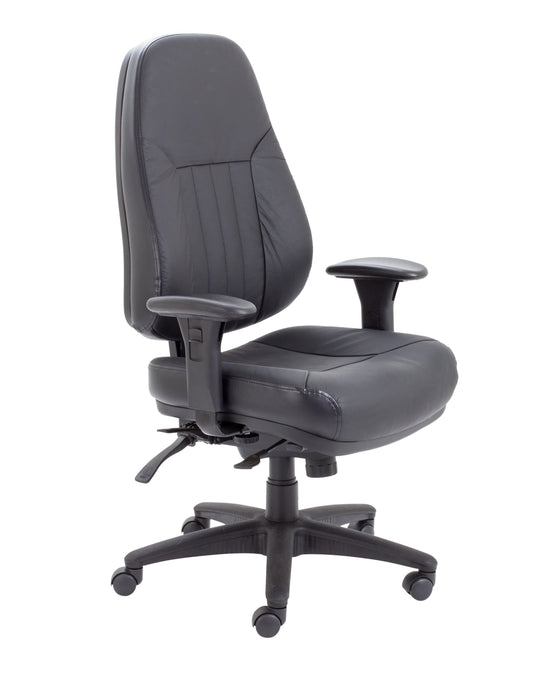 Panther 24hr Operator Chair Black Leather