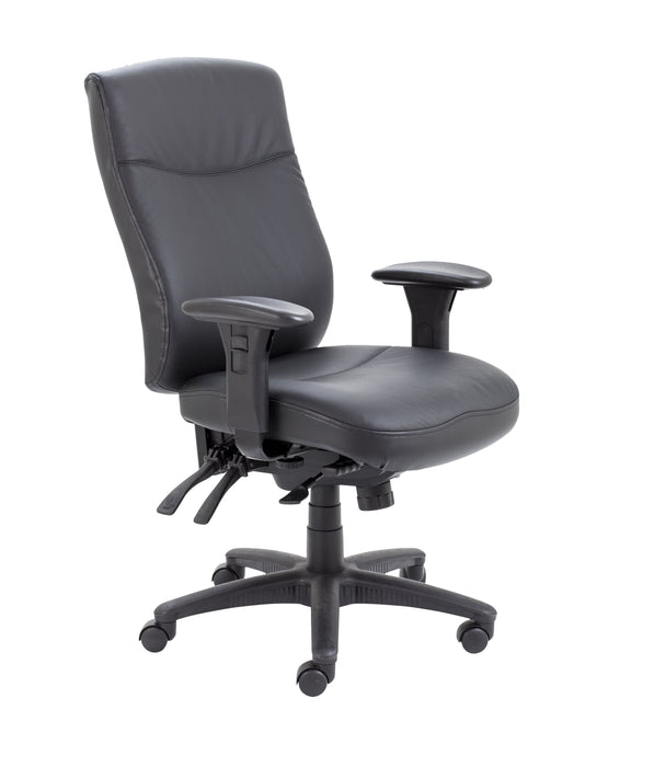 Marathon 24hr Leather Operator Chair