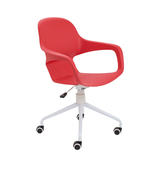 Ariel 2 Plastic Chair - Spider Base With Castors red