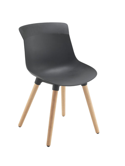 Charlie Wooden Leg Chair Black