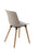 Charlie Wooden Leg Chair Mocha