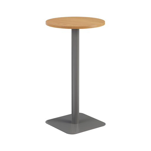 Pedestal base High Table 600mm Diameter - Oak/Black