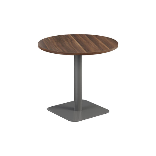 Pedestal base 800mm Table - Walnut/Black