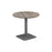 Pedestal base 800mm Table White/Black