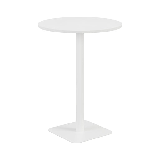 Pedestal base High Table 800mm diameter White/White