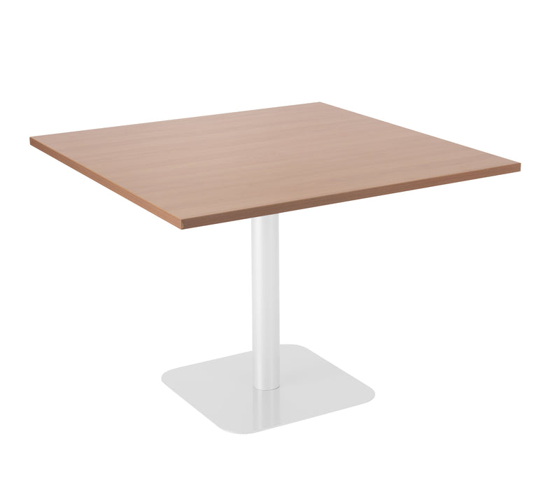Pedestal Base Square Table Walnut/White