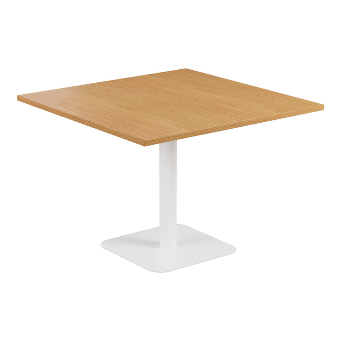 Pedestal Base Square Table Oak/Black