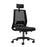 Rome Mesh High Back Chair With Headrest Black