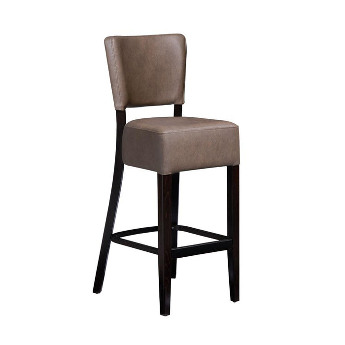 Club Bar Stool - Wenge - Distressed Bark