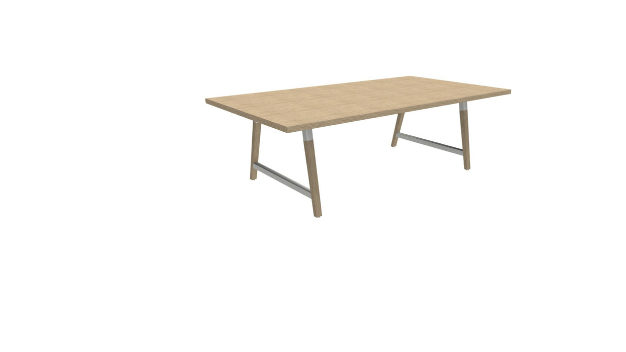 Cohesion Table - wood legs & cable management