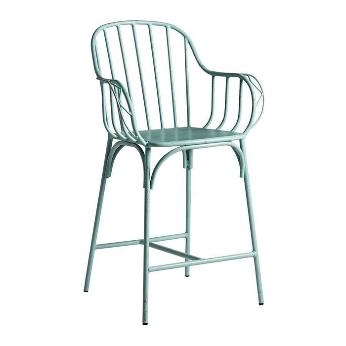 Denver Bar Stool (Mid Height) - Retro Light Blue