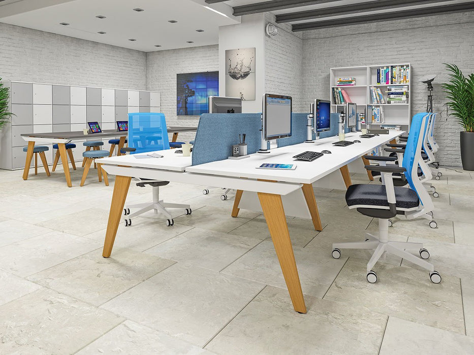 Evolution 6 person bench desks