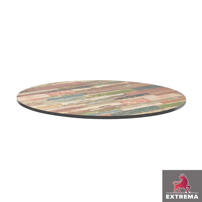 Extrema Table Top - Reclaimed Beach Hut - 69cm dia (Round)