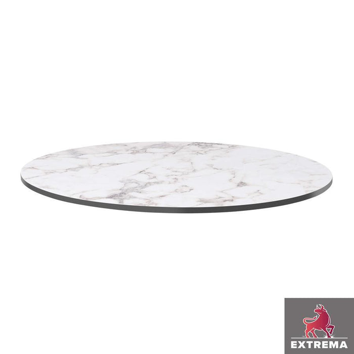 Extrema Table Top - White Carrara Marble - 60cm dia (Round)