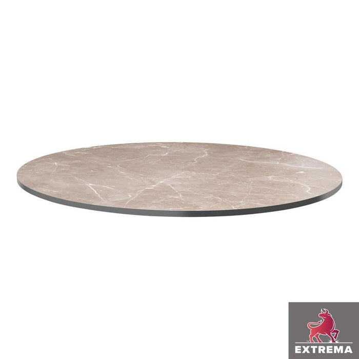 Extrema Table Top - Marble Grey - 60cm dia (Round)