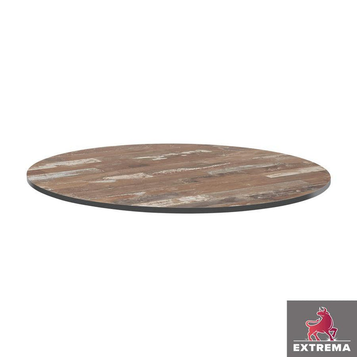 Extrema Table Top - Planked Vintage Wood - 69cm dia (Round)