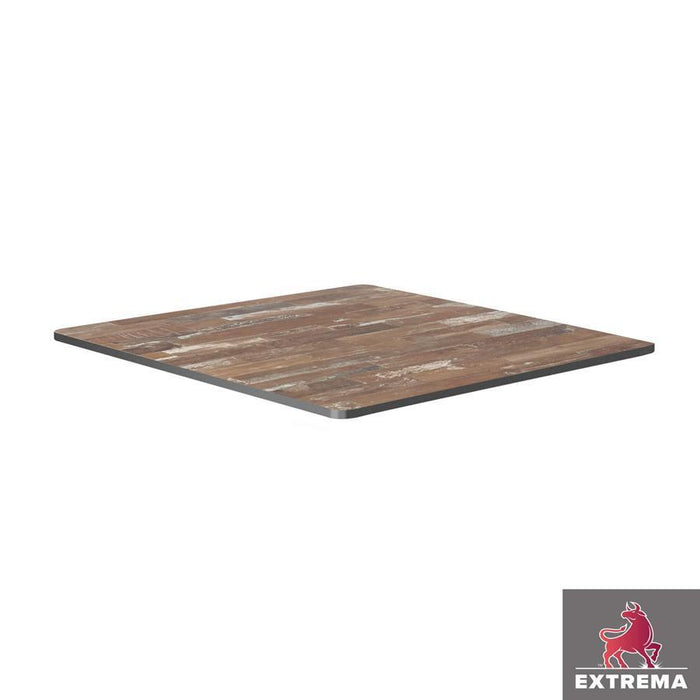 Extrema Table Top - Planked Vintage Wood - 79cm x 79cm (Square)
