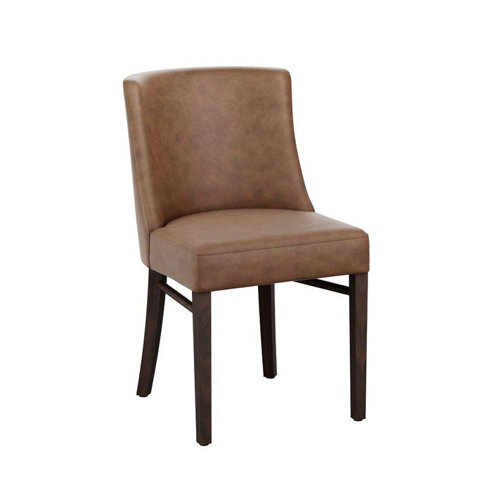 Hug Side Chair - Wenge - Lascari Vintage Brown