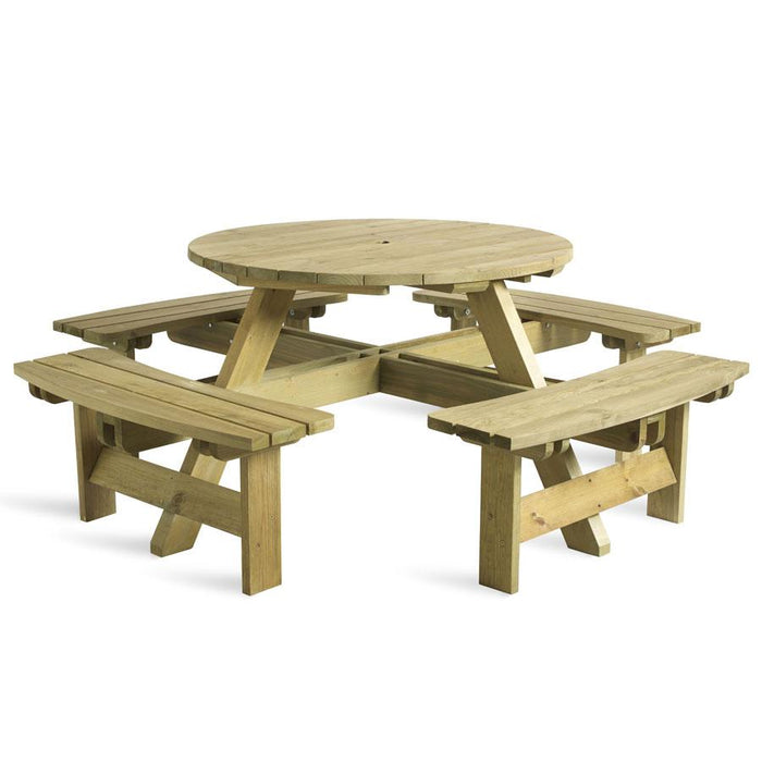 King 8 Seater Round Picnic Bench