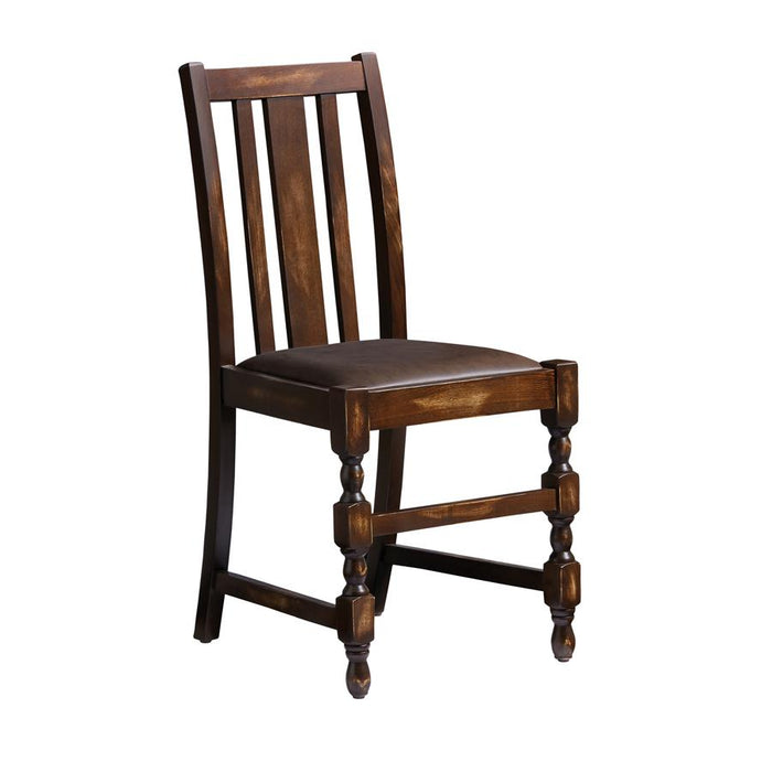 Lilly Side Chair - Weathered Finish - Distressed Bark