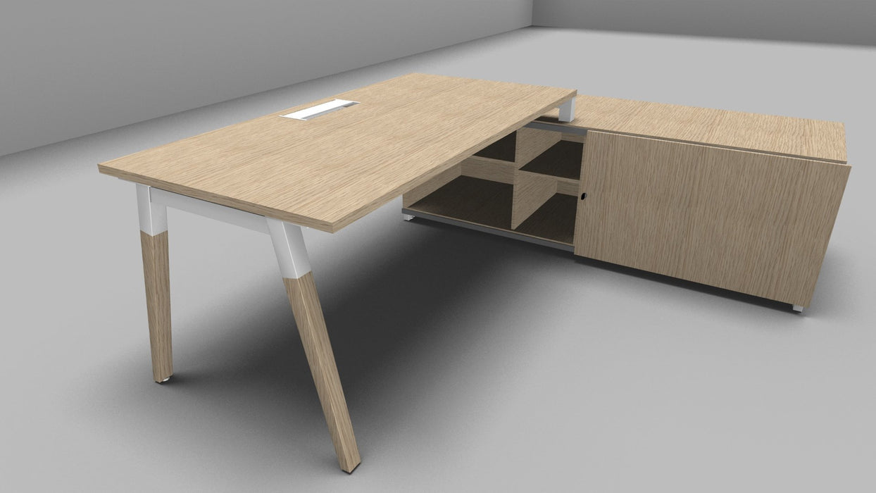 Dialogue Desk with supporting storage