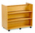 Double sided Library Unit with combination shelves