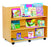 Double sided Library Unit with 3 horizontal shelves