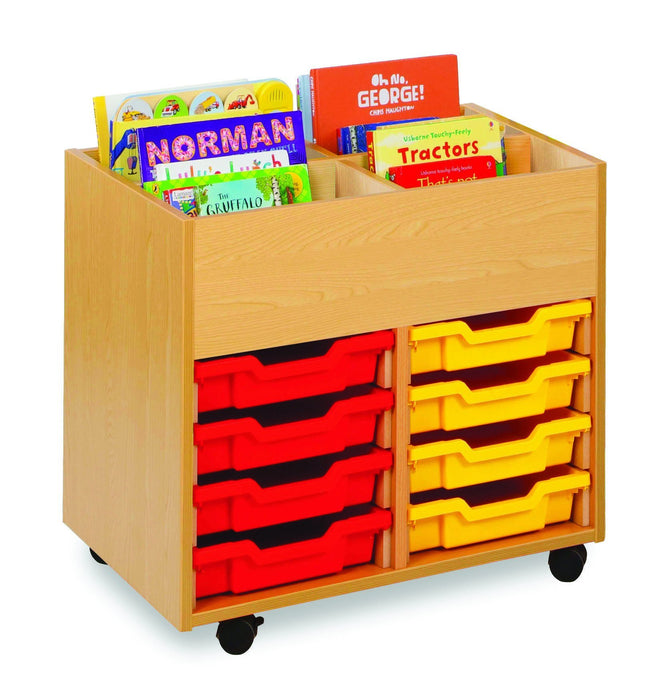 4 bay kinderbox unit with trays